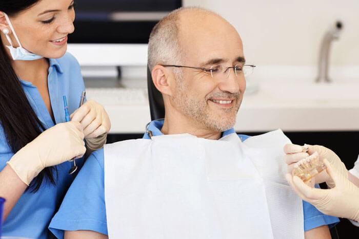 showing dental implant model